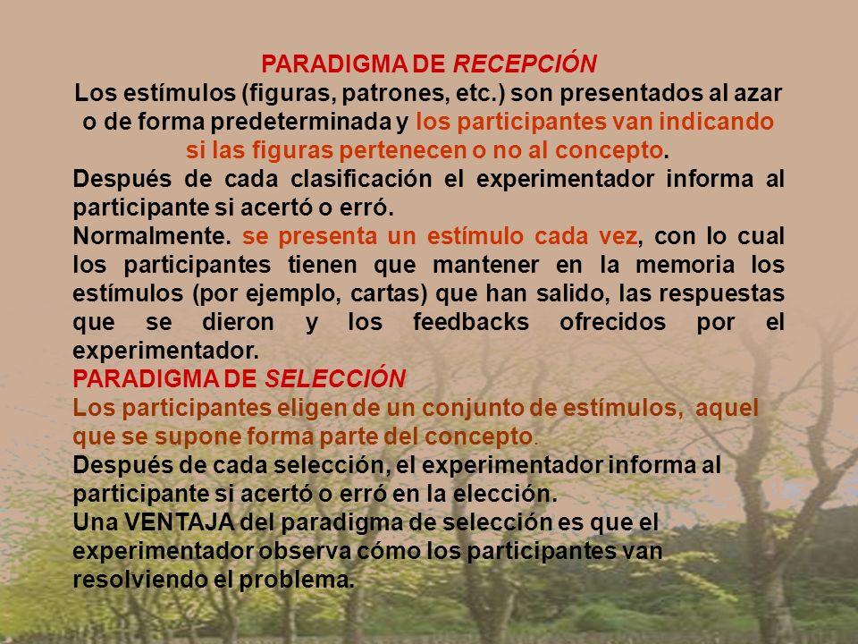 PARADIGMA DE RECEPCIÓN