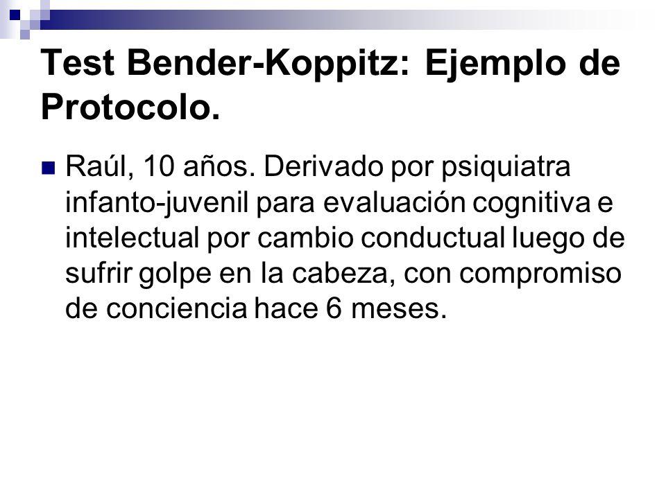 Test Bender-Koppitz: Ejemplo de Protocolo.