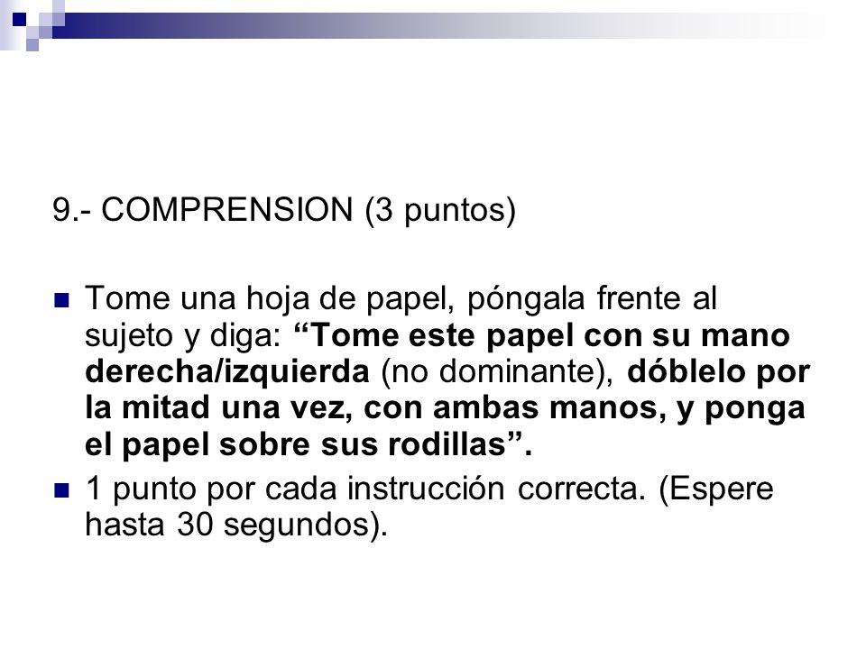 9.- COMPRENSION (3 puntos)