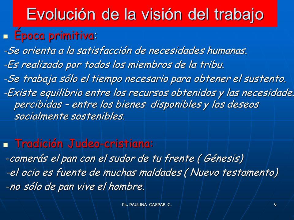 Evolución de la visión del trabajo