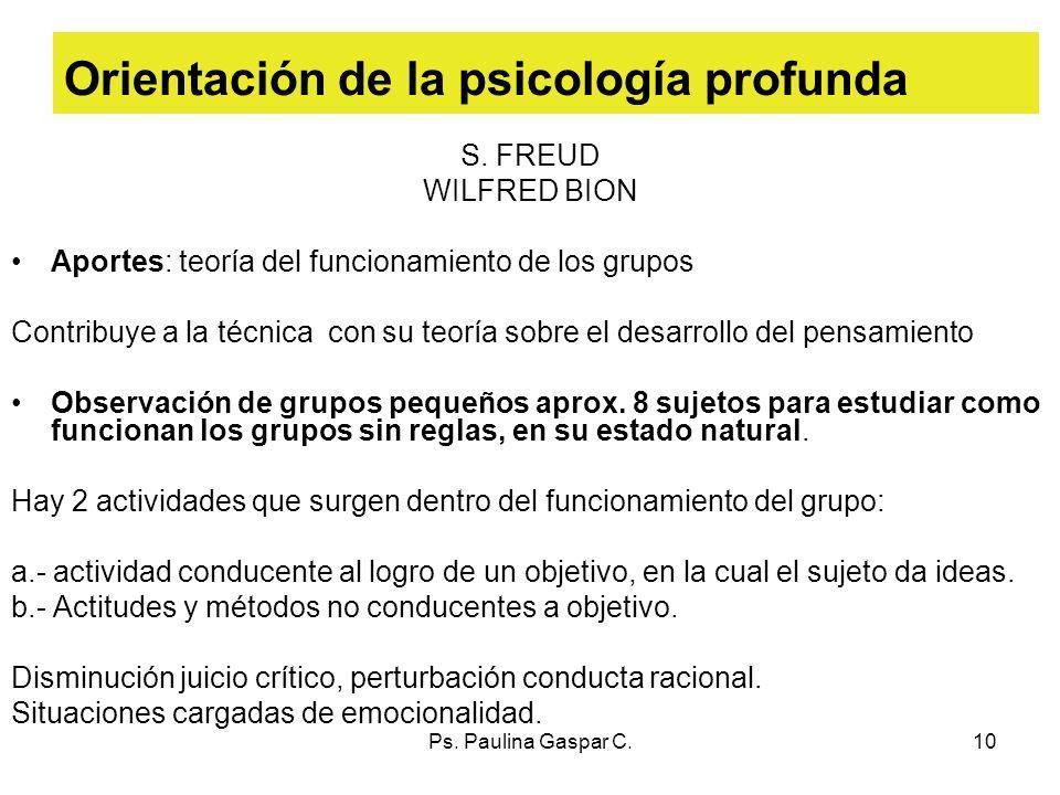 Orientación de la psicología profunda