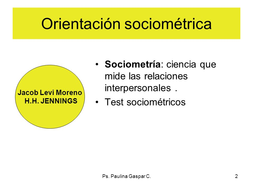 Orientación sociométrica