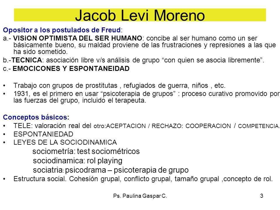 Jacob Levi Moreno sociodinamica: rol playing