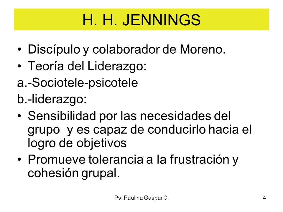 H. H. JENNINGS Discípulo y colaborador de Moreno.