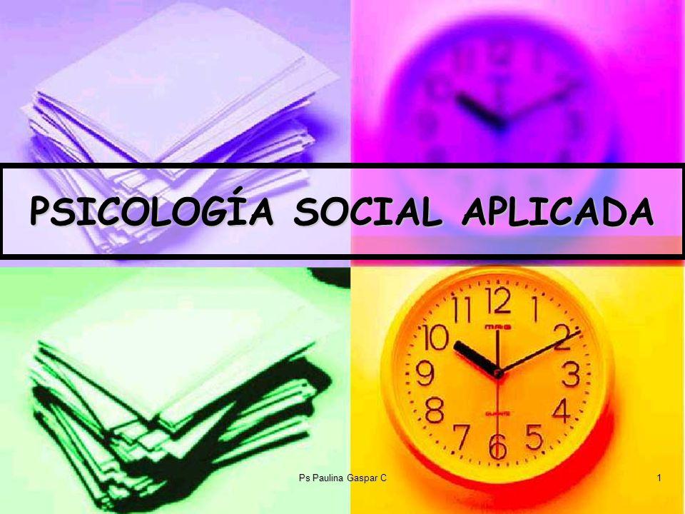PSICOLOGÍA SOCIAL APLICADA