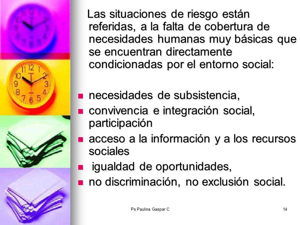 necesidades de subsistencia,