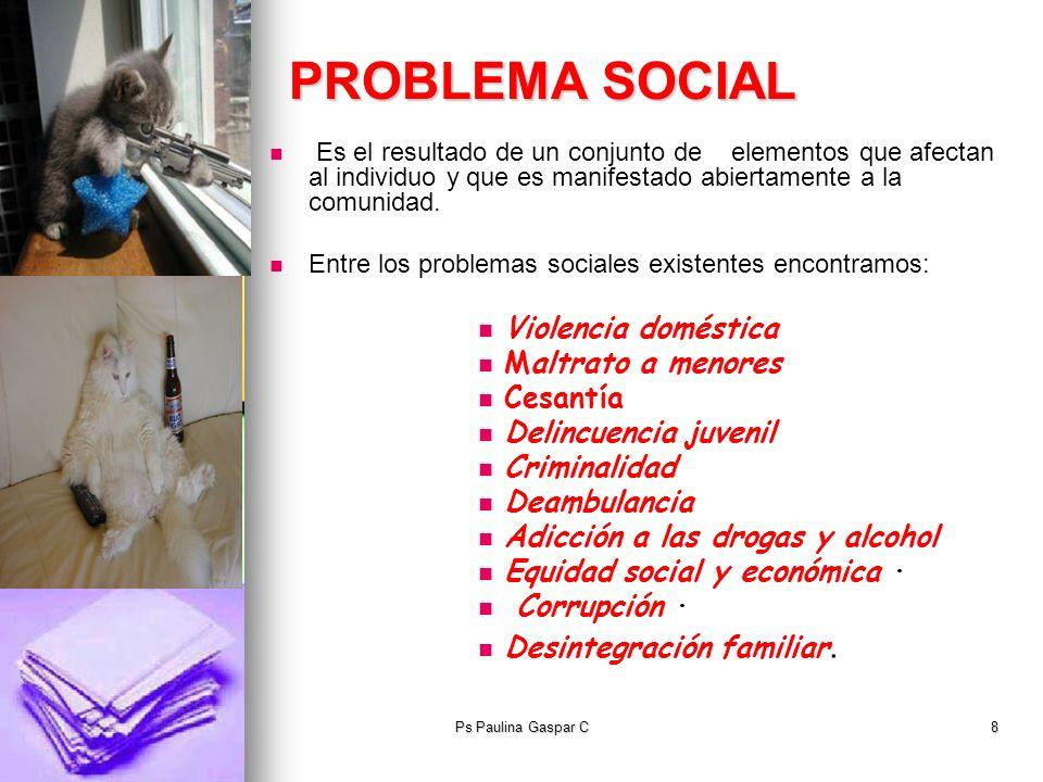 PROBLEMA SOCIAL Violencia doméstica Maltrato a menores Cesantía