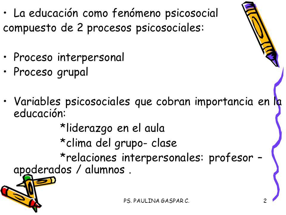 La educación como fenómeno psicosocial