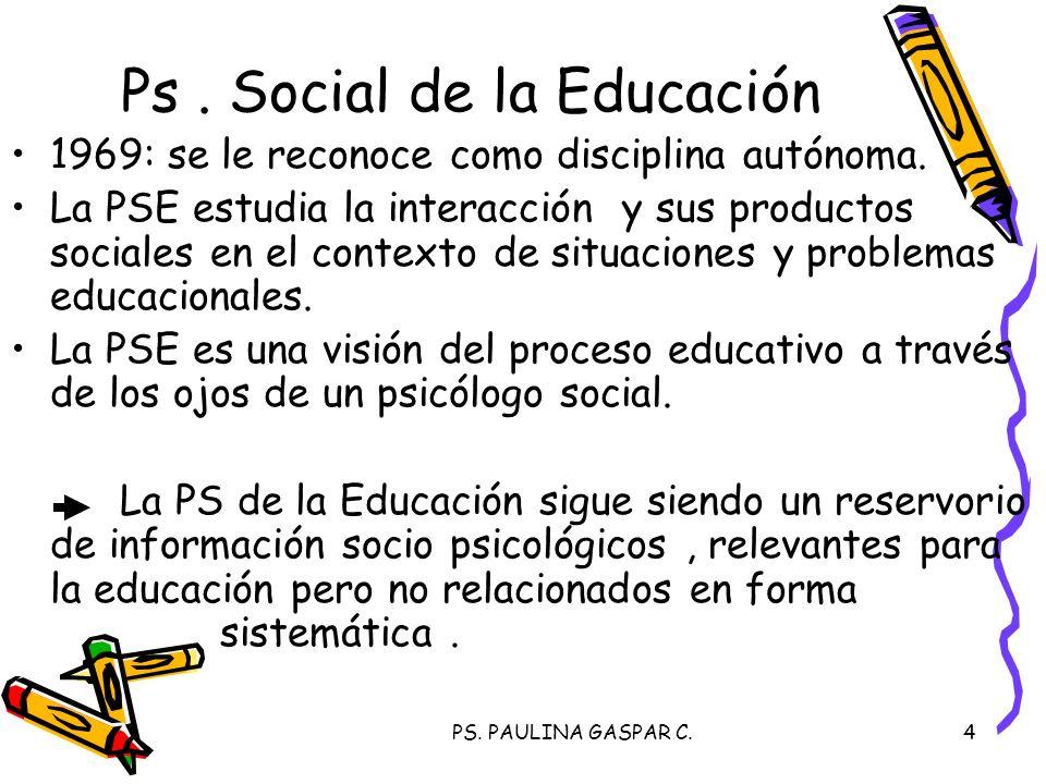 Ps . Social de la Educación