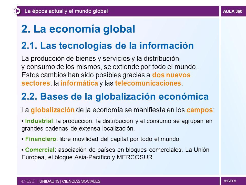 2. La economía global 2.1. Las tecnologías de la información