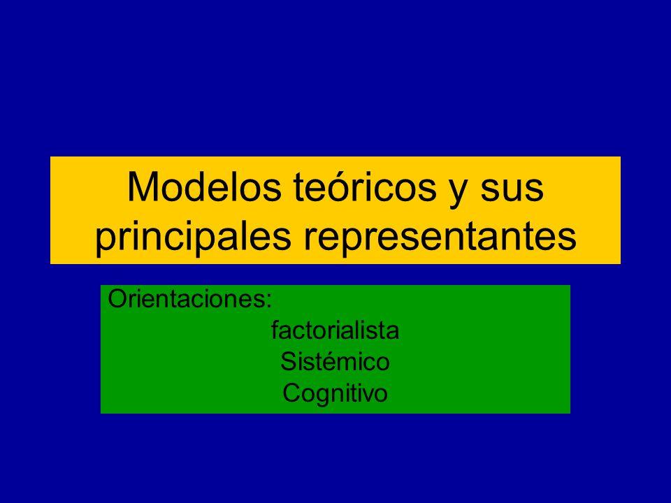 Modelos teóricos y sus principales representantes