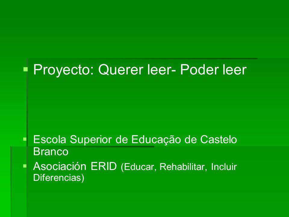 Proyecto: Querer leer- Poder leer