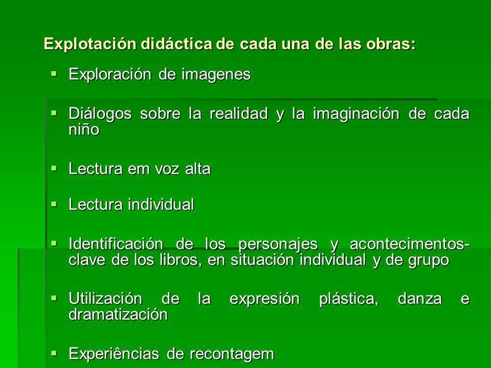 Explotación didáctica de cada una de las obras:
