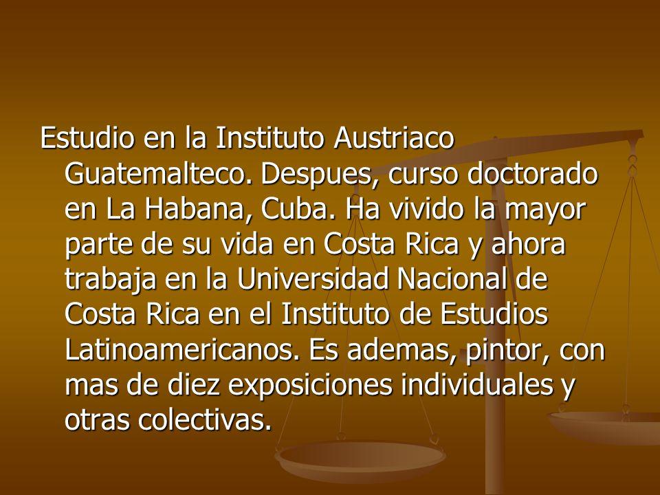 Estudio en la Instituto Austriaco Guatemalteco