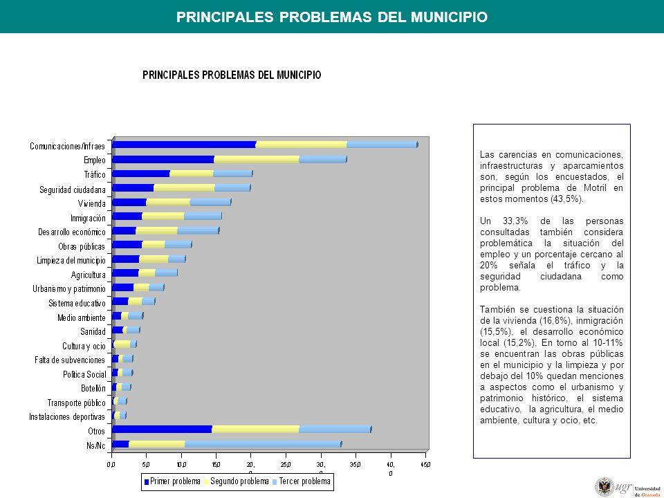 PRINCIPALES PROBLEMAS DEL MUNICIPIO