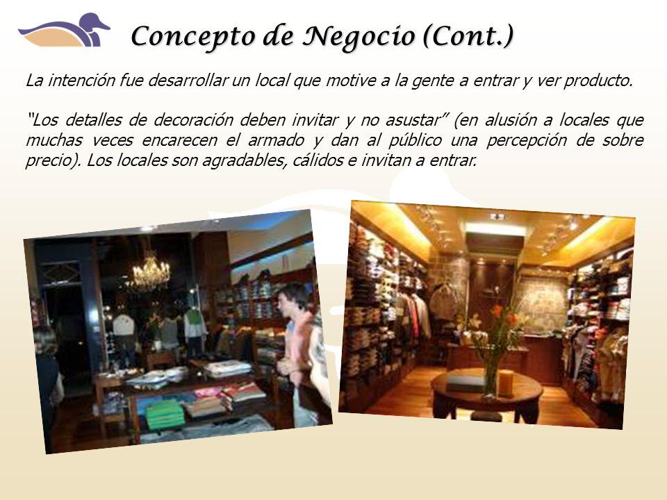 Concepto de Negocio (Cont.)