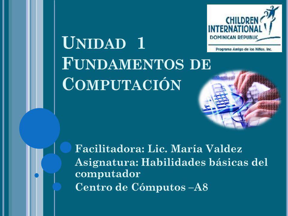 Unidad 1 Fundamentos de Computación