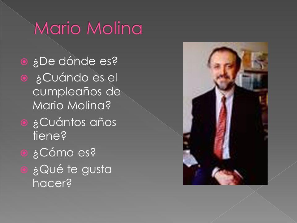 Mario Molina ¿De dónde es ¿Cuándo es el cumpleaños de Mario Molina