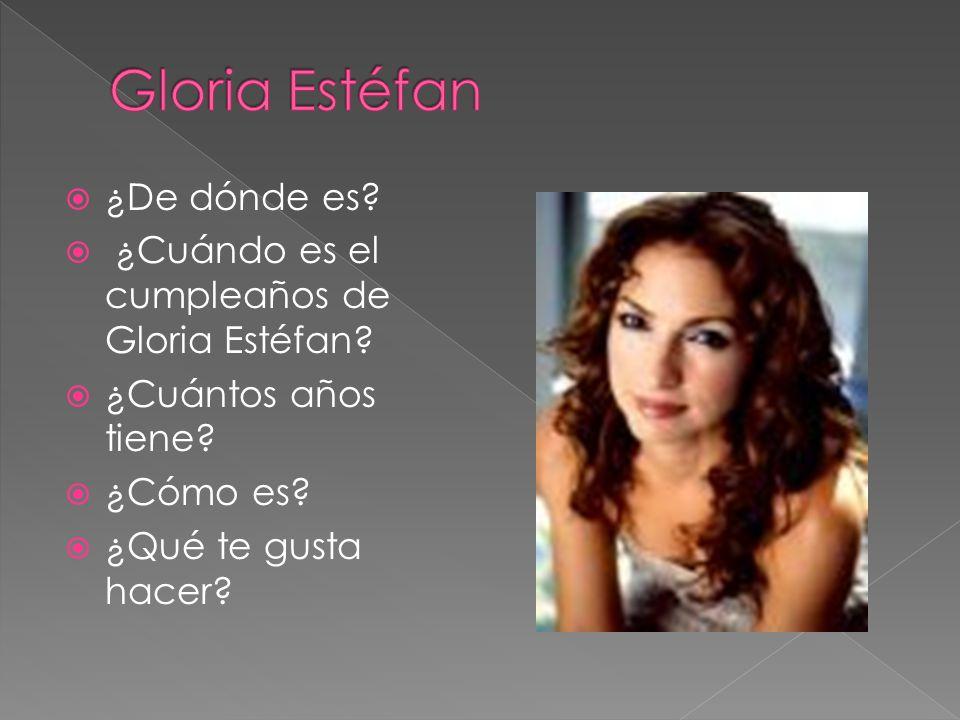 Gloria Estéfan ¿De dónde es