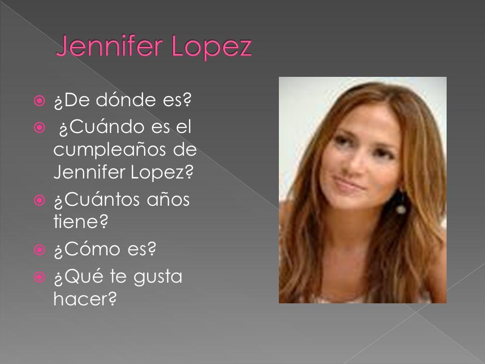 Jennifer Lopez ¿De dónde es