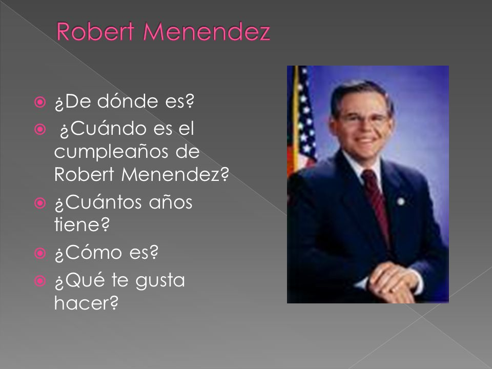Robert Menendez ¿De dónde es