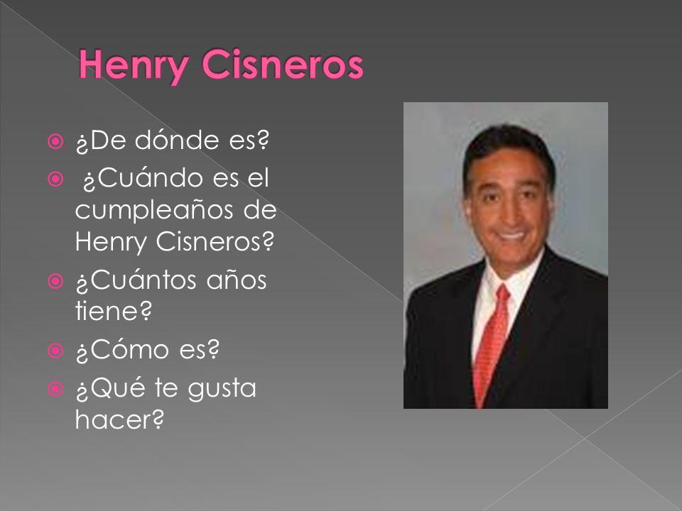 Henry Cisneros ¿De dónde es