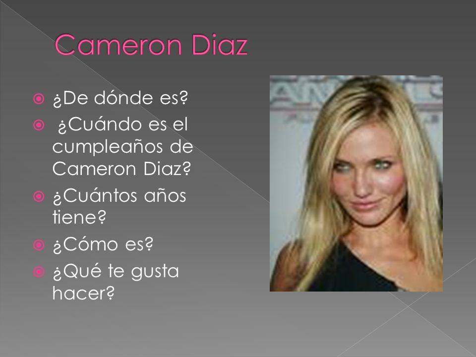 Cameron Diaz ¿De dónde es ¿Cuándo es el cumpleaños de Cameron Diaz