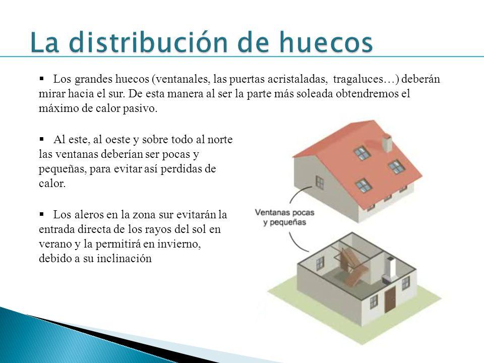 La distribución de huecos
