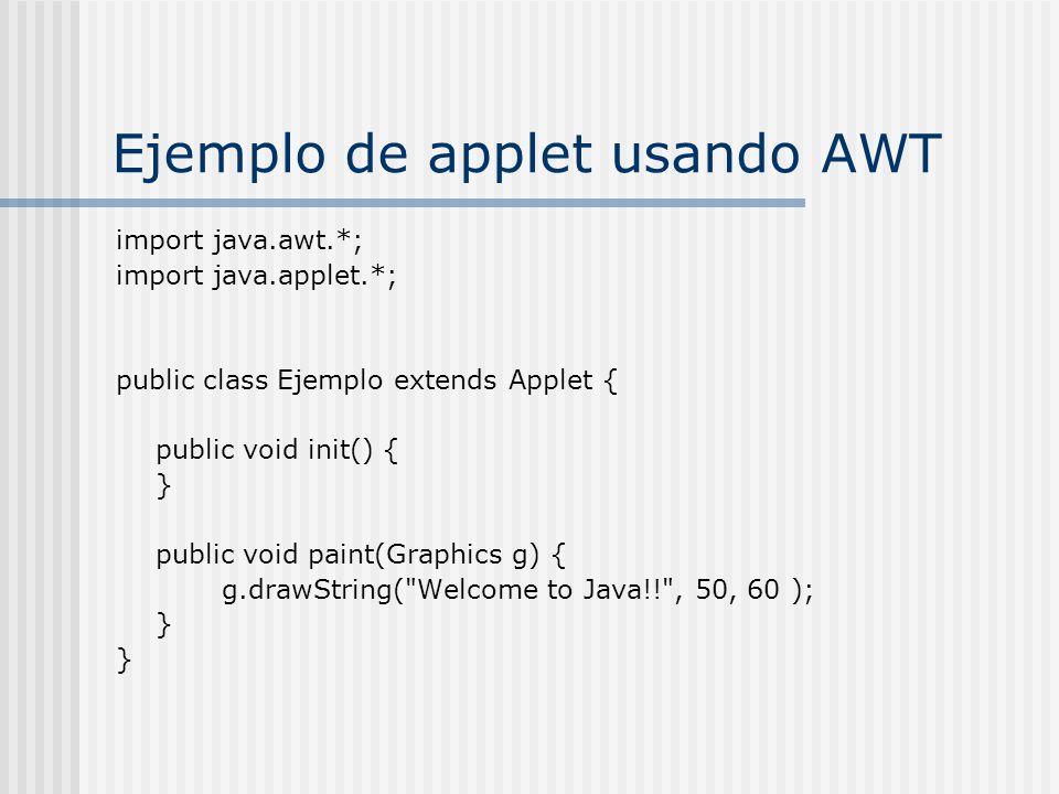 Ejemplo de applet usando AWT