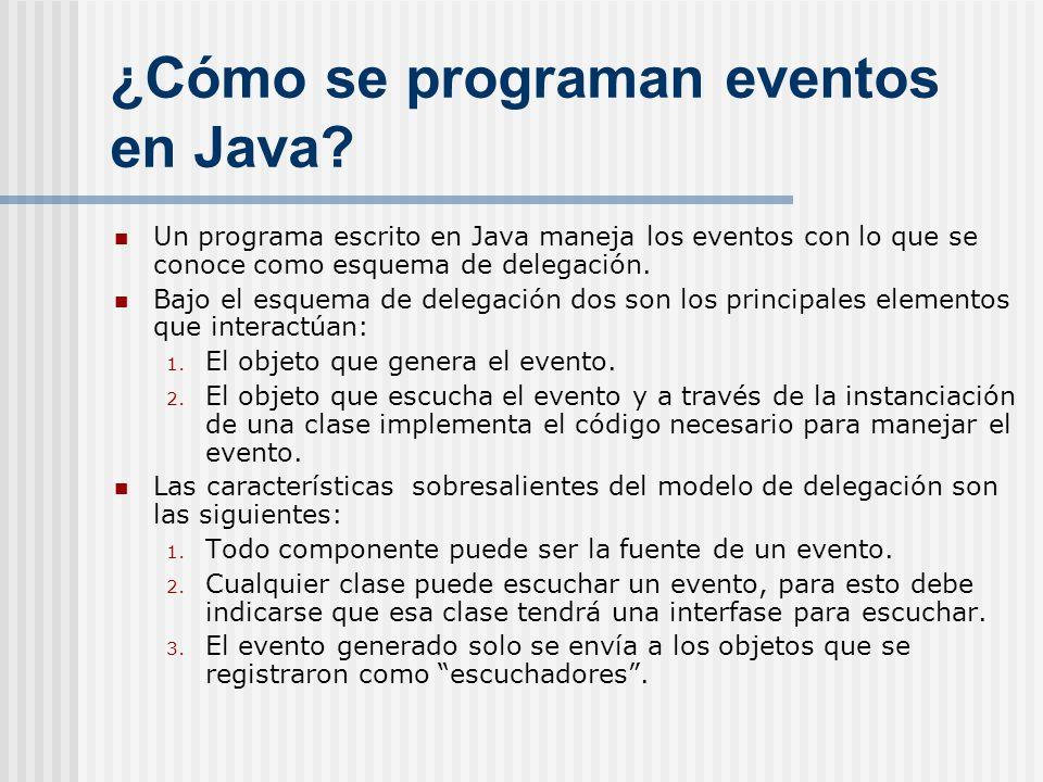 ¿Cómo se programan eventos en Java