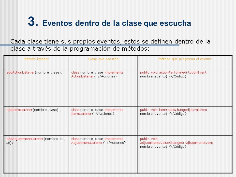 3. Eventos dentro de la clase que escucha