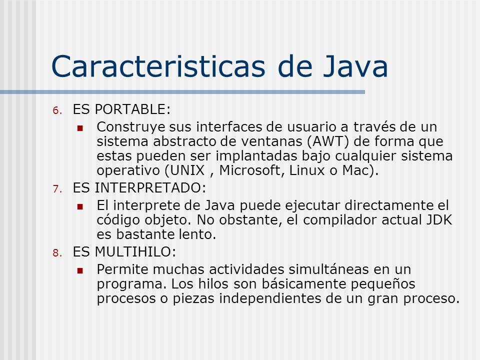Caracteristicas de Java