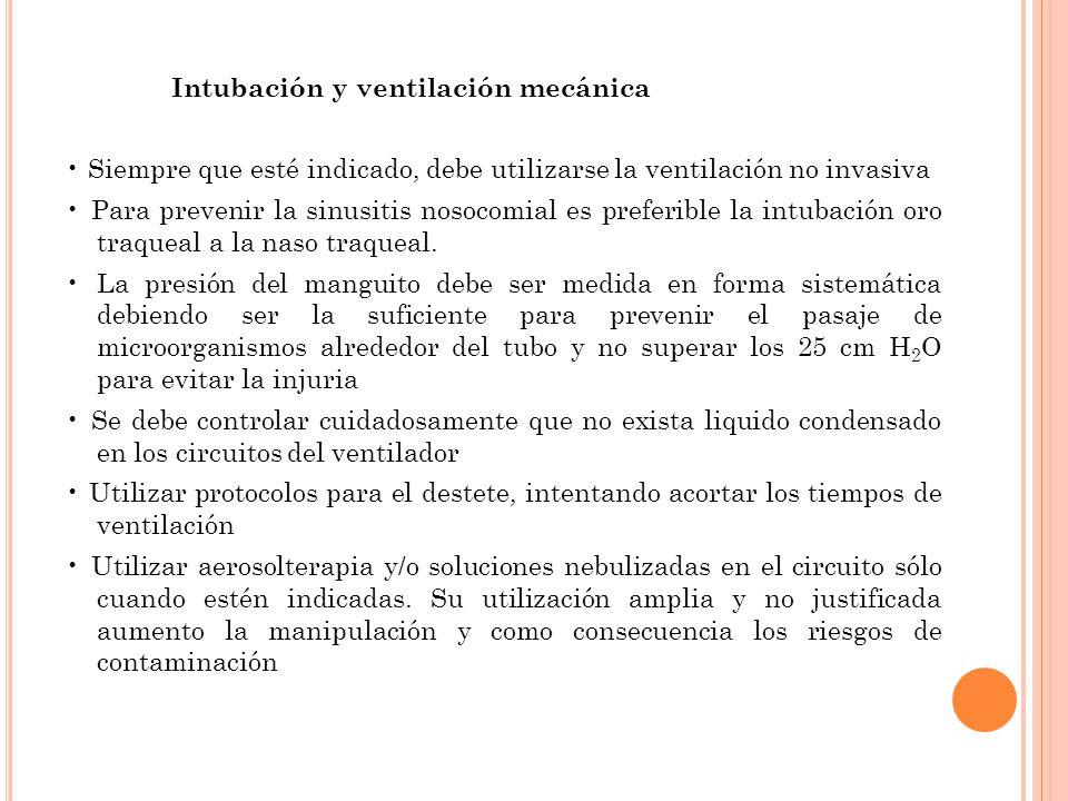 Intubación y ventilación mecánica