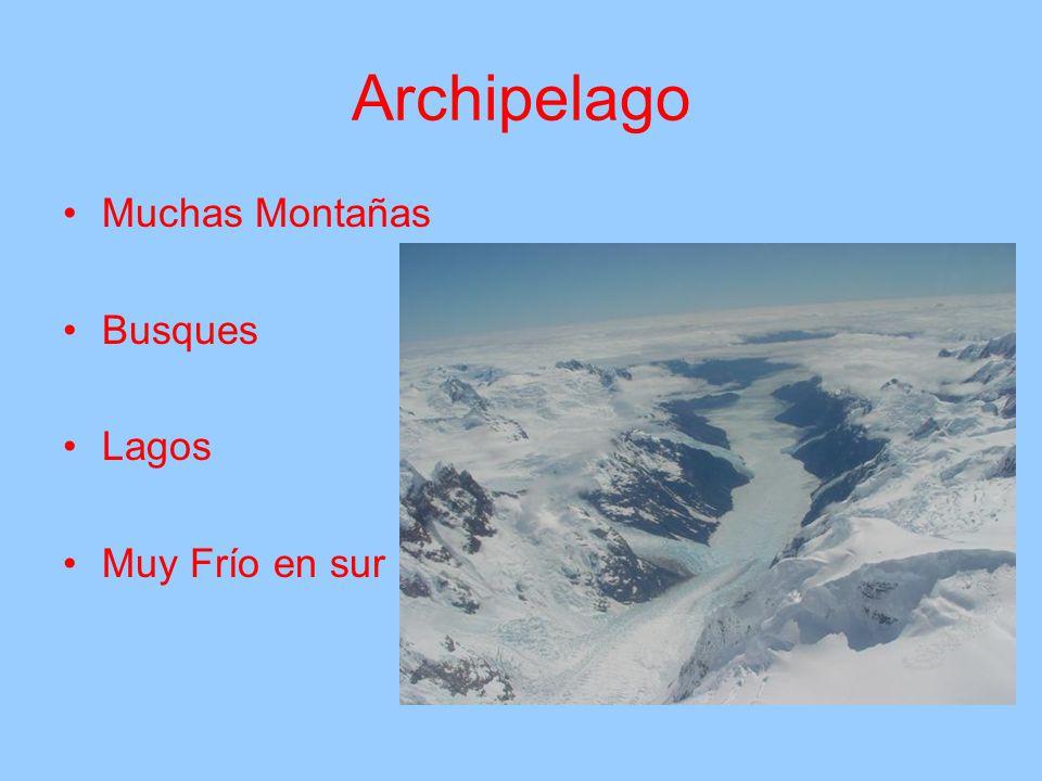 Archipelago Muchas Montañas Busques Lagos Muy Frío en sur