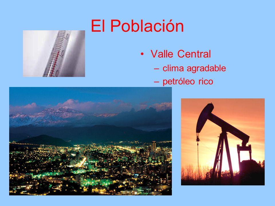 El Población Valle Central clima agradable petróleo rico