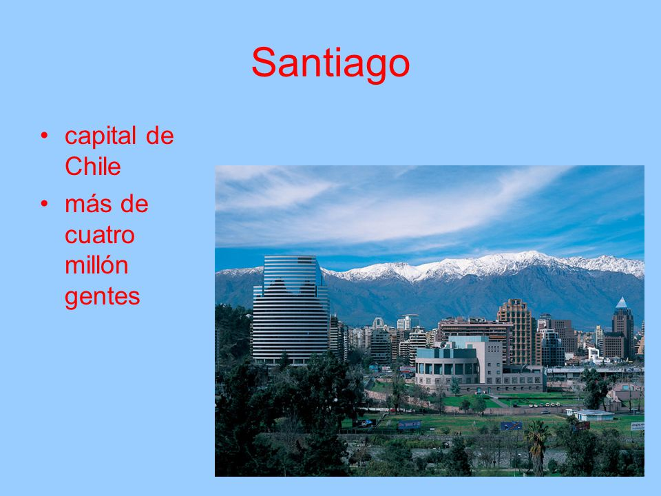 Santiago capital de Chile más de cuatro millón gentes