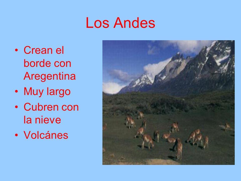 Los Andes Crean el borde con Aregentina Muy largo Cubren con la nieve