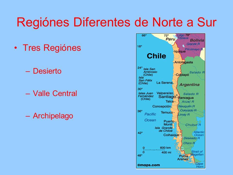 Regiónes Diferentes de Norte a Sur