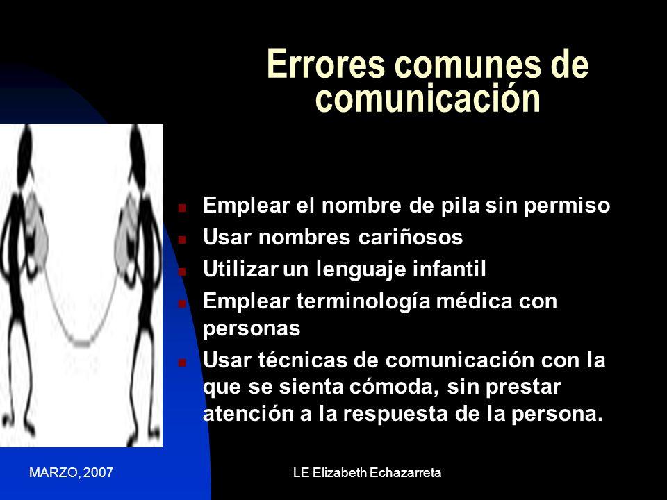 Errores comunes de comunicación