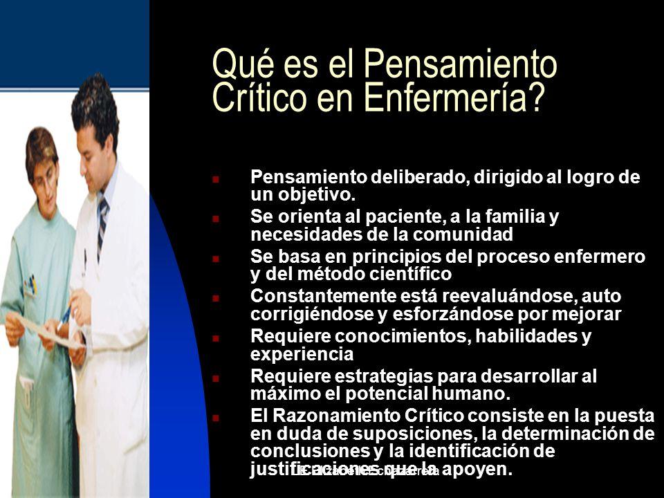 Qué es el Pensamiento Crítico en Enfermería