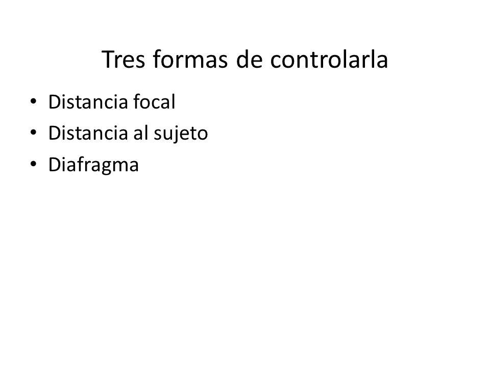Tres formas de controlarla