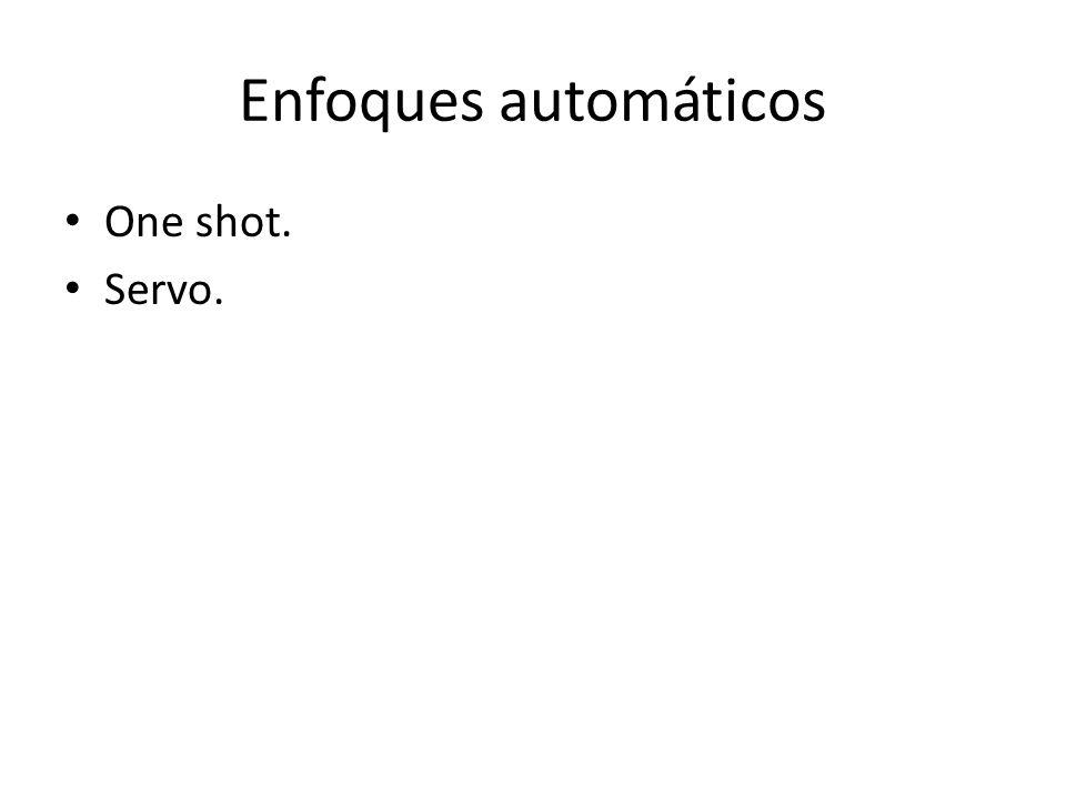 Enfoques automáticos One shot. Servo.