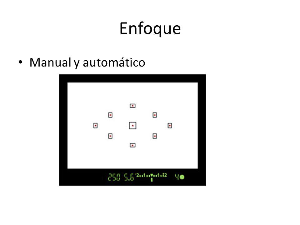 Enfoque Manual y automático