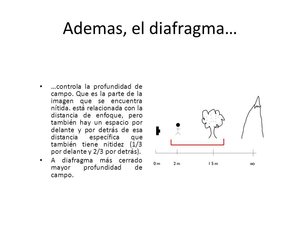 Ademas, el diafragma…
