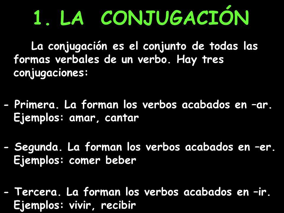 1. LA CONJUGACIÓN