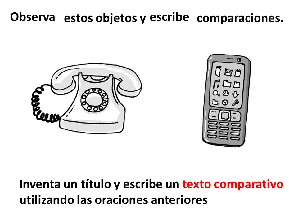 estos objetos y comparaciones.