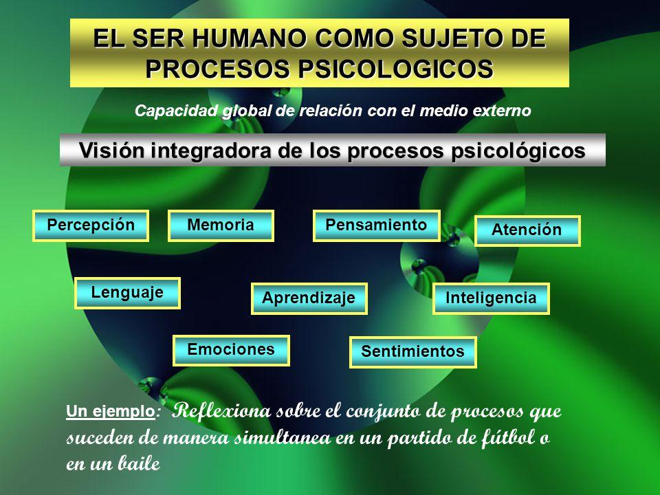 EL SER HUMANO COMO SUJETO DE PROCESOS PSICOLOGICOS