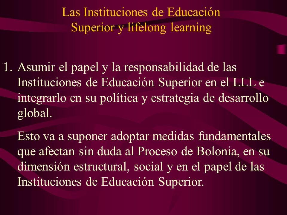 Las Instituciones de Educación Superior y lifelong learning