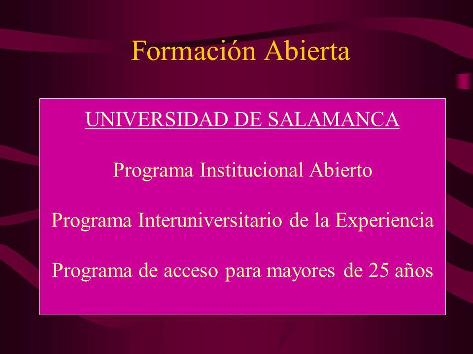 Formación Abierta UNIVERSIDAD DE SALAMANCA