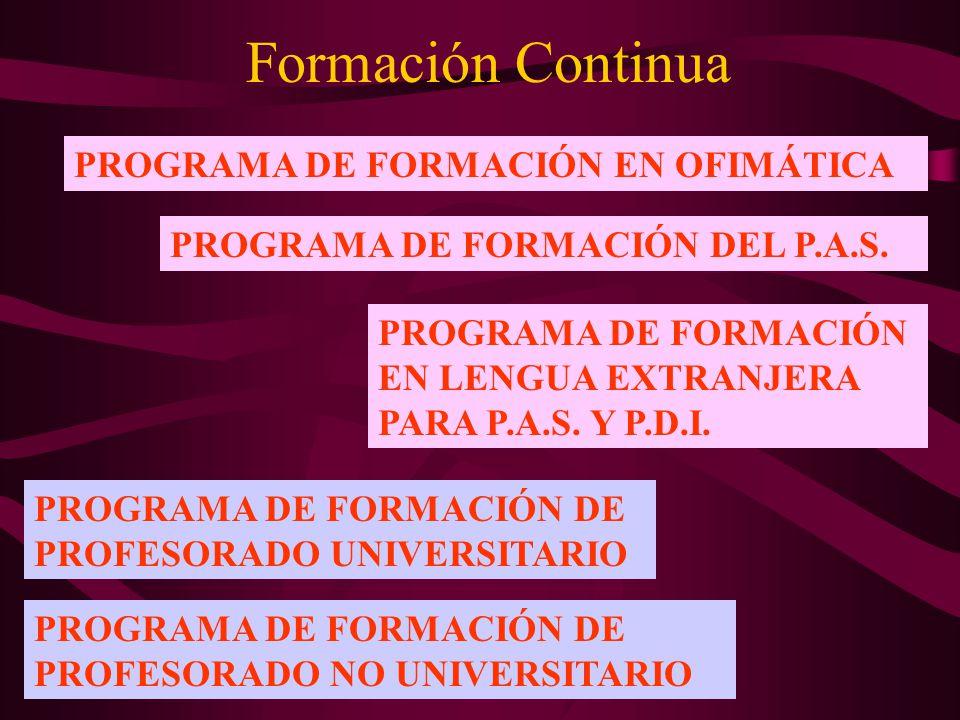 Formación Continua PROGRAMA DE FORMACIÓN EN OFIMÁTICA